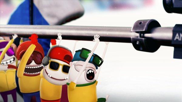 V novém spotu značky Hamé pomáhají biatlonistce Koukalové Kreslené postavičky.