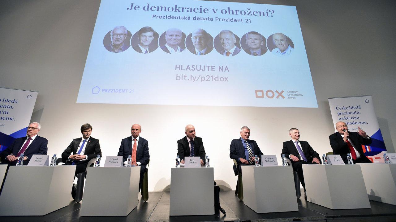 Debata prezidentských kandidátů se uskutečnila 20.prosince v Praze.
