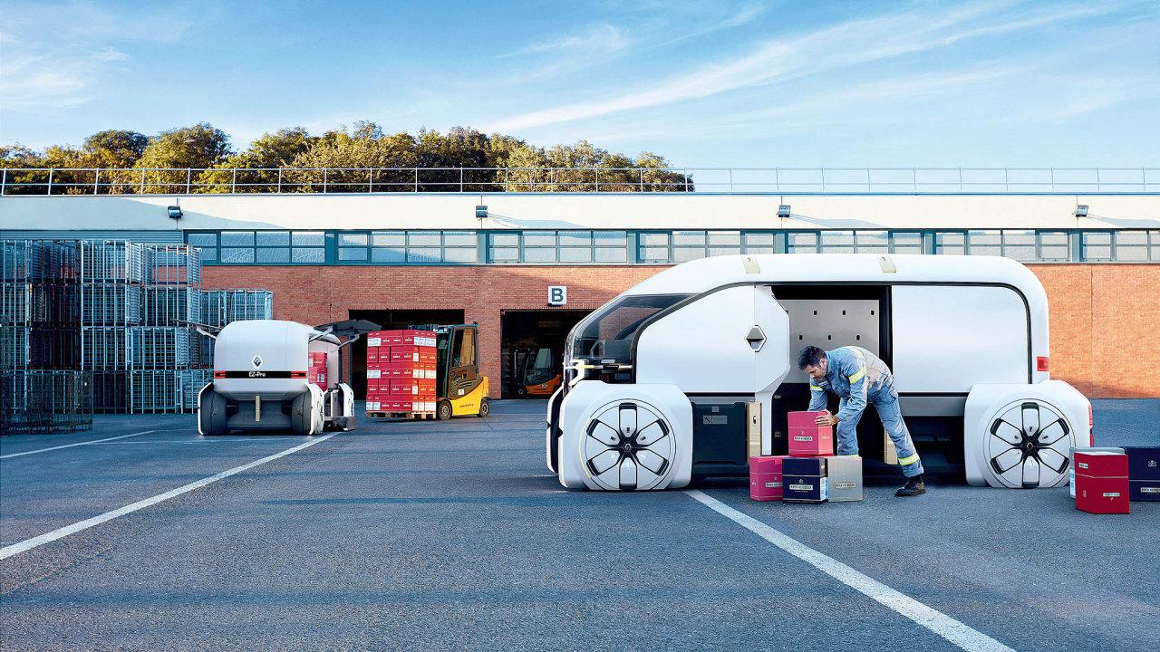 Automobilka Renault představila spolu sbalíkovou službou DPD vizi městského nákladního vozidla.