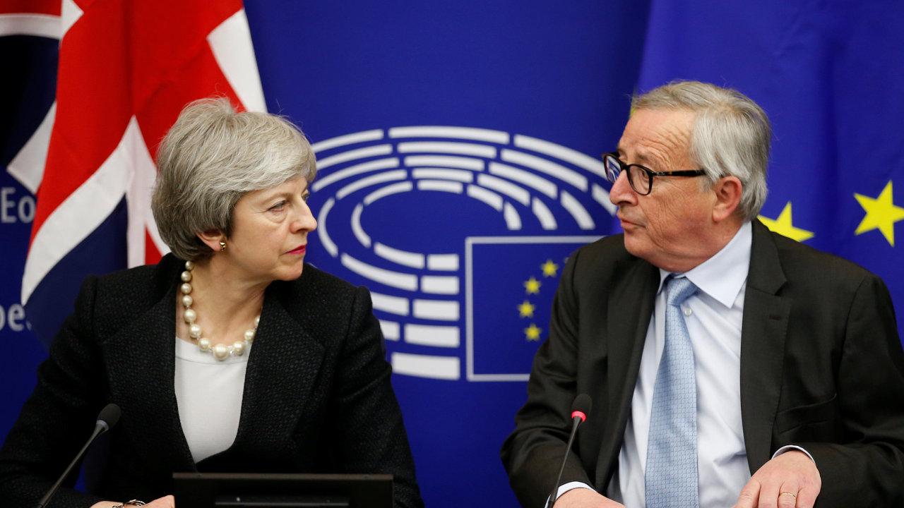 předseda Evropské komise Jean-Claude Juncker, Theresa Mayová, brexit, EU