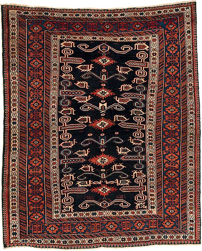 Zakavkazský koberec jde do dražby s cenou 134 tisíc korun.