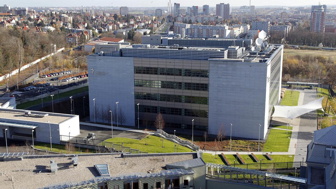 Budova Rádia Svobodná Evropa na pražském Hagiboru.