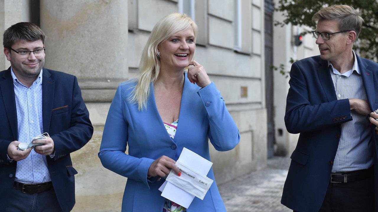 Vítězka: Petra Pecková zMnichovic bude novou středočeskou hejtmankou. Vítězný STAN se tu dohodl nakoalici sODS, Piráty aSpojenci pro Středočeský kraj, které tvoří TOP 09, Hlas aZelení.