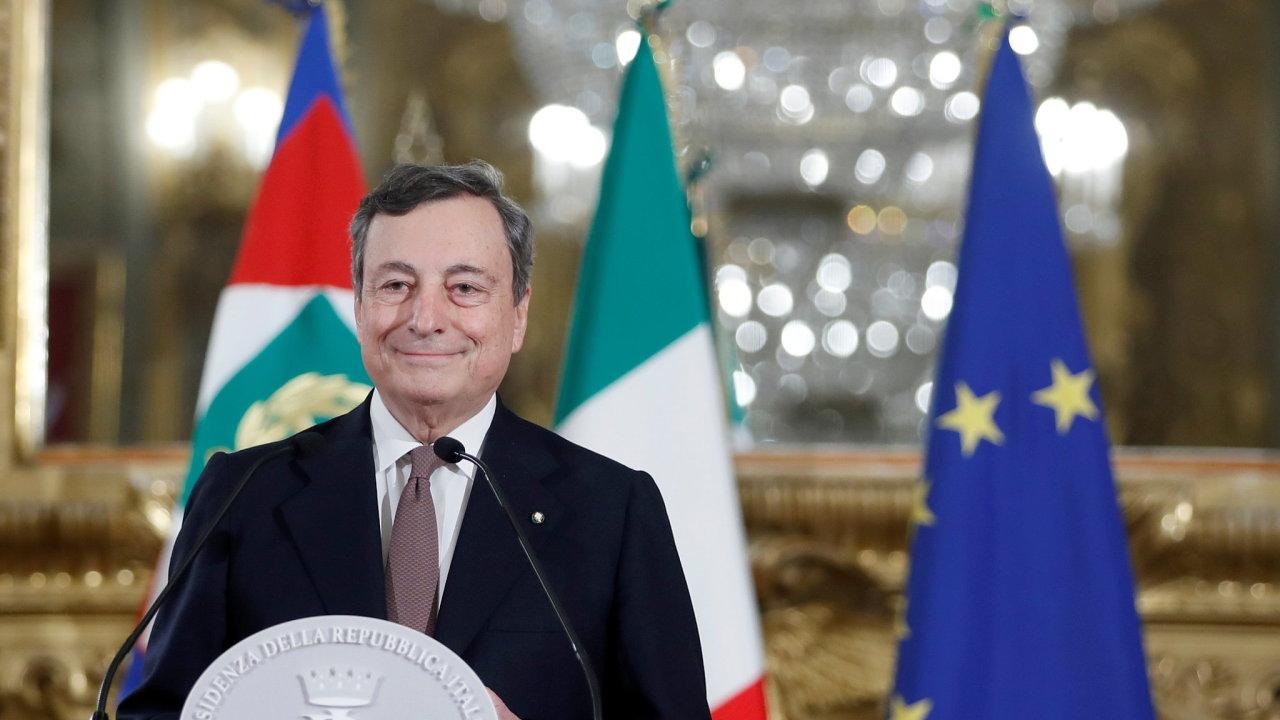 Mario Draghi, italský premiér
