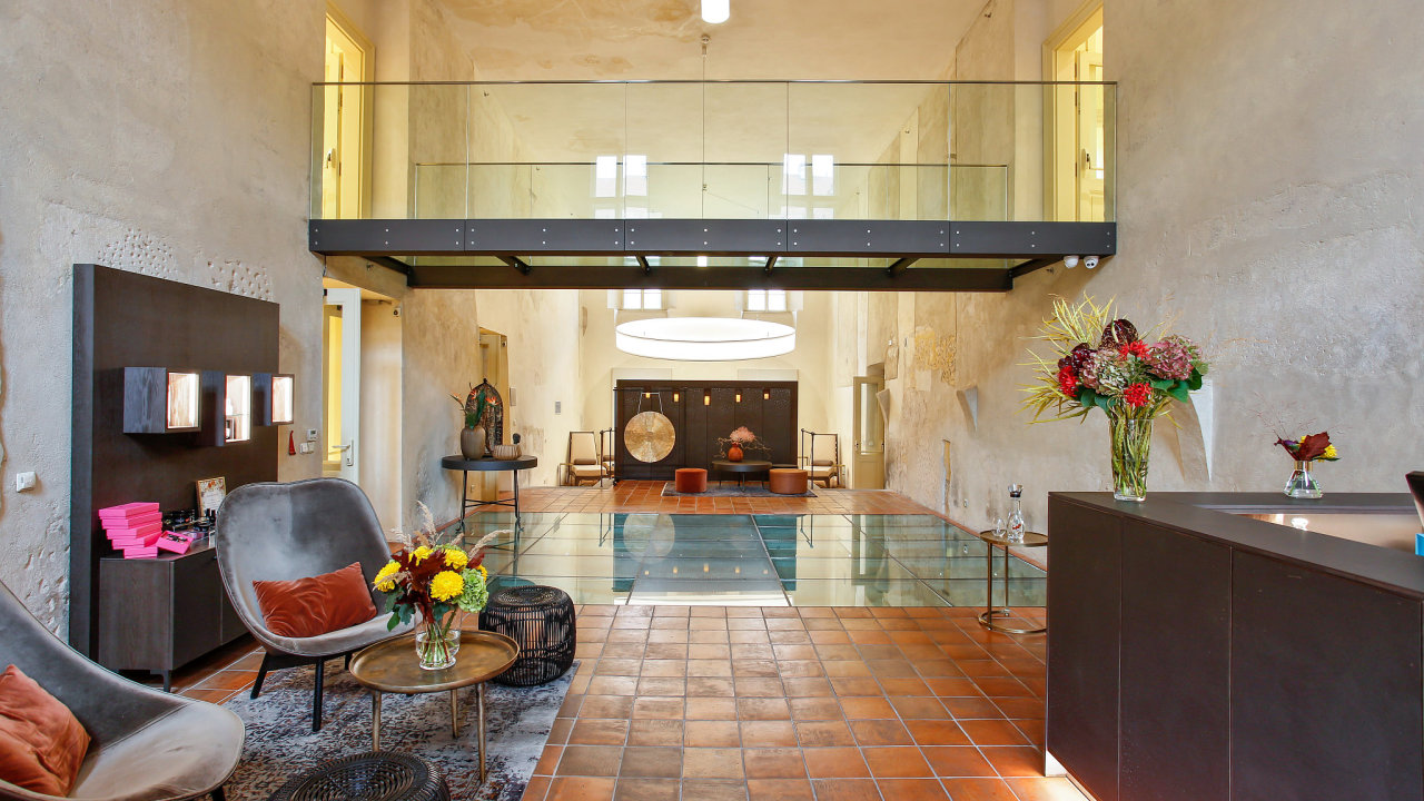 Lobby lázní v pražském hotelu Mandarin Oriental
