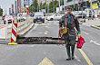 V Evropsk� ulici v Praze se propadla vozovka.