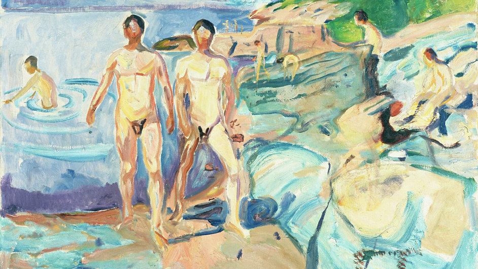 Na výstavě Nazí muži uvidíte i plátno od Edvarda Muncha.