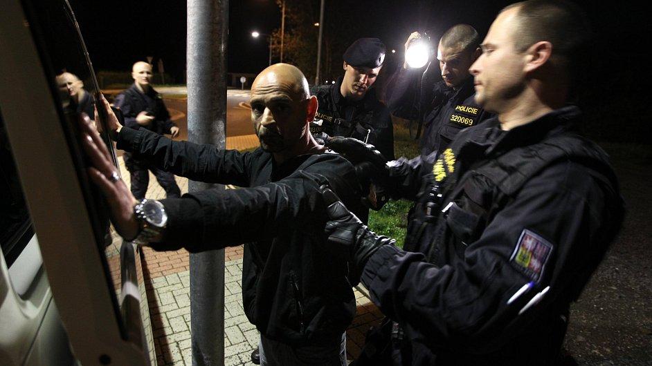 Policejní razie - ilustrační foto.