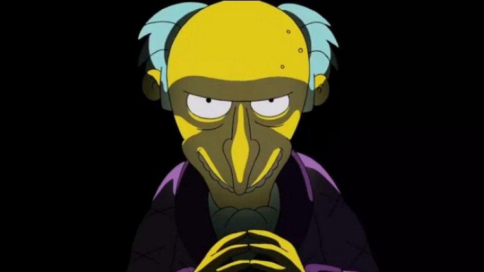 Montgomery Burns ze seriálu Simpsonovi