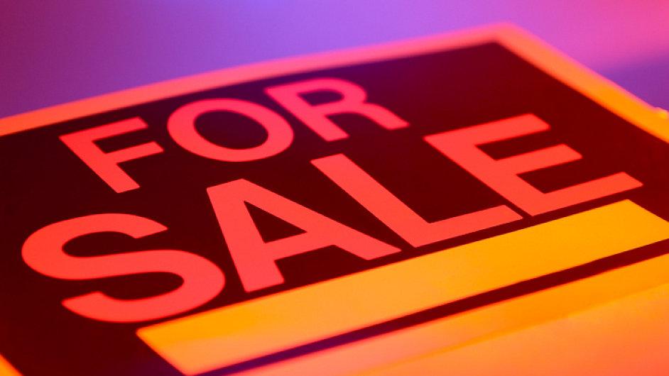 Ilustrační foto - Výprodej, cedule For sale