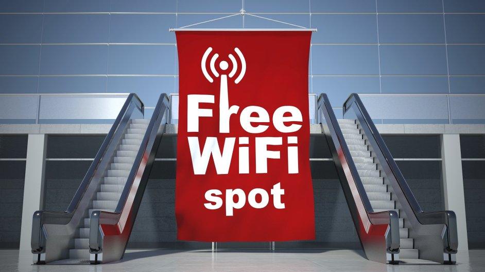 Wi-fi, free spot. Ilustrační foto.