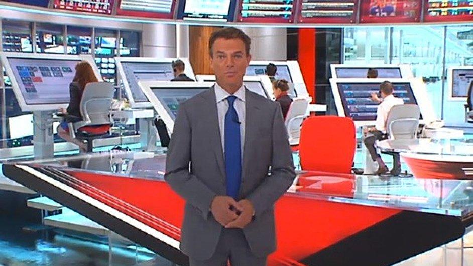 Tablety v televizním studiu stanice Fox