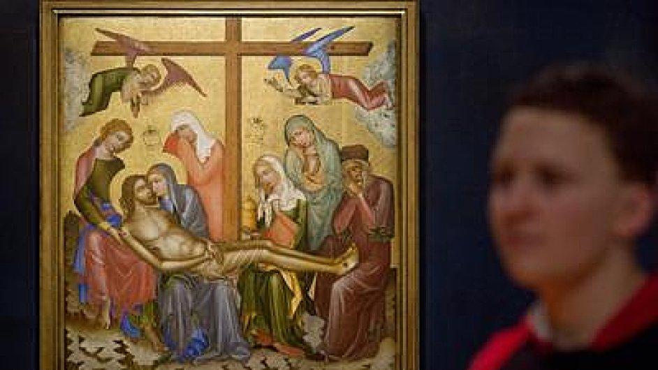 Oplakávání, jeden z devíti oltářních obrazů navrácených církvi