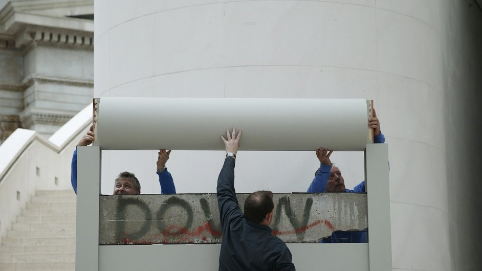 Berlínská zeď v Britském muzeu