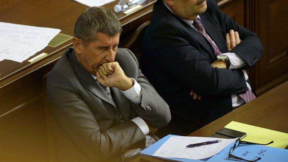 Ministr financí Andrej Babiš (vlevo) a poslanec ČSSD Václav Votava