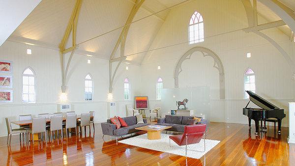 Ob�vac� pokoj v chr�mov� lodi. C�rkev hled� nov� vyu�it� pro star� kostely