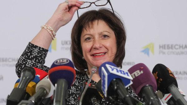 Ukrajinská ministryně financí Natalie Jaresková prosazuje, aby věřitelé škrtli 40 procent dluhu.
