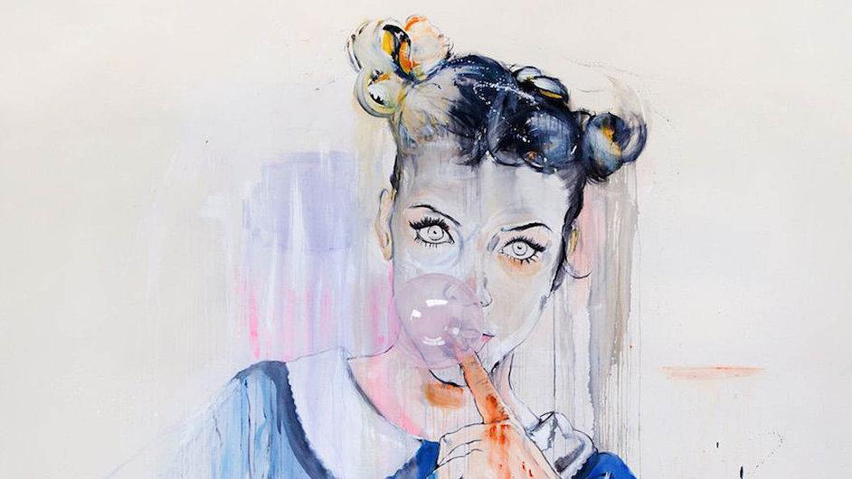 Martin Krajc ve svých obrazech kombinuje akademickou malbu s blyštivým světem reklamních fotografií.