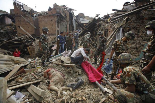 Zemětřesení v Nepálu.
