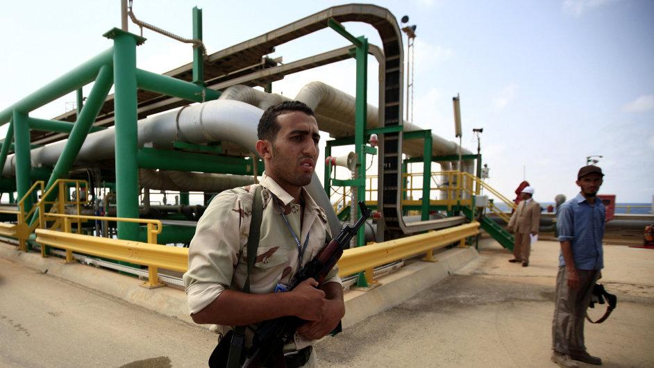 Težba ropy v Libyi