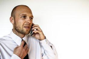 Manažer, bezpečná komunikace, ilustrace