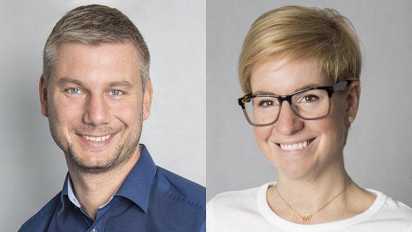 Obchodní ředitel Slevomatu Milan Kubát a brand manažerka Iva Janoušková
