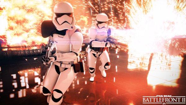 Snímek z připravované hry Star Wars Battlefront II
