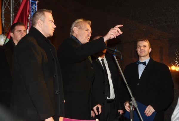 Prezident Miloš Zeman navštívil 8. listopadu v rámci návštěvy Olomouckého kraje Lipník nad Bečvou.