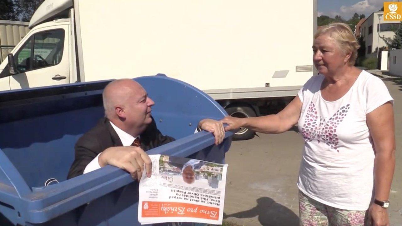 Oliver Pospíšil (ČSSD) v klipu pro komunální volby 2018