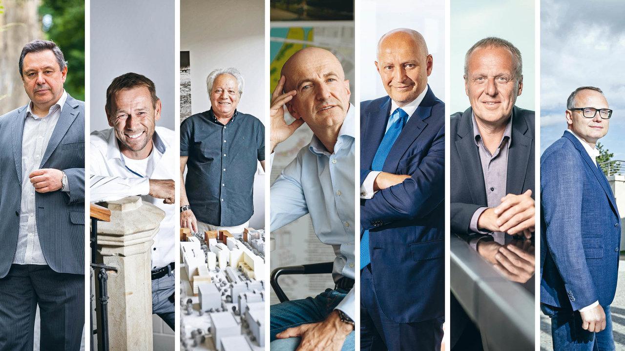 (Zleva) Evžen Korec, Michal Kocián, Serge Borenstein, Luděk Sekyra, Radim Passer, Dušan Kunovský a Marcel Soural