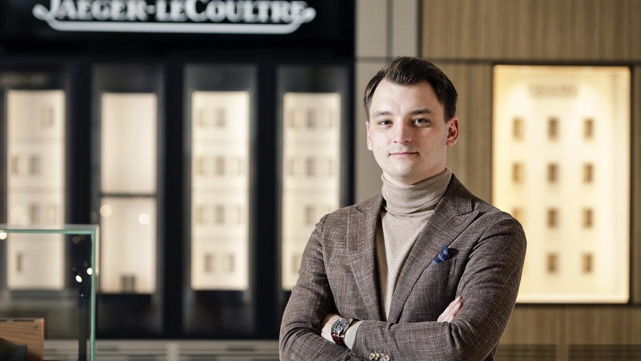 Martin Janna, vedoucí butiku Carollinum