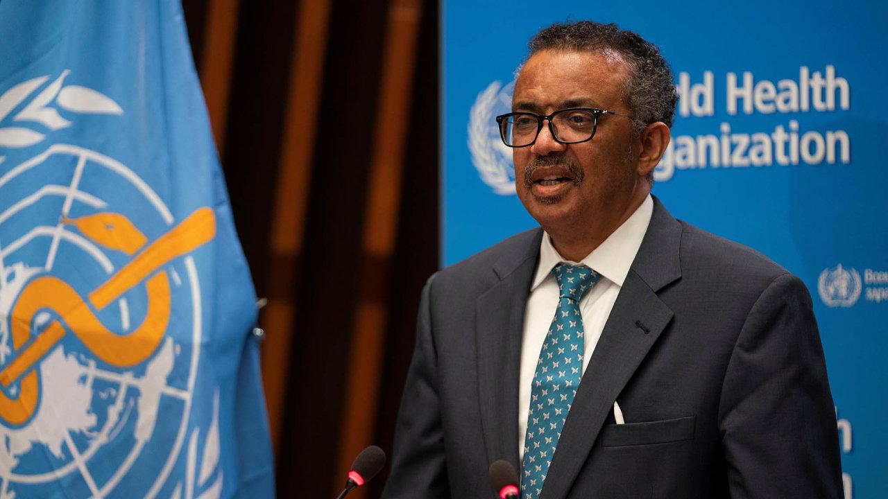 Předseda Světové zdravotnické organizace, etiopský mikrobiolog a imunolog Tedros Adhanom Ghebreyesus
