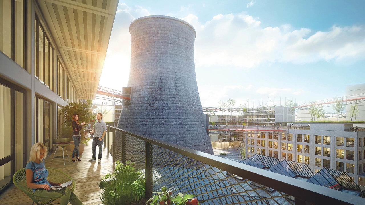 Symbolický objekt chladicí věže se změní vevyhlídku, místo kultury aveřejné scény.