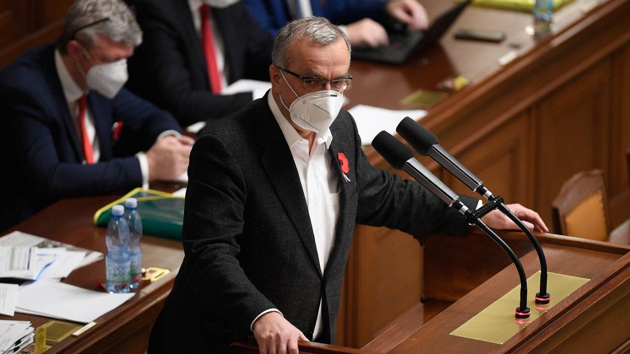 Pod palbou opozice. Vládní návrh rozpočtu ve středu kritizoval také bývalý ministr financí aposlanec TOP 09 Miroslav Kalousek.
