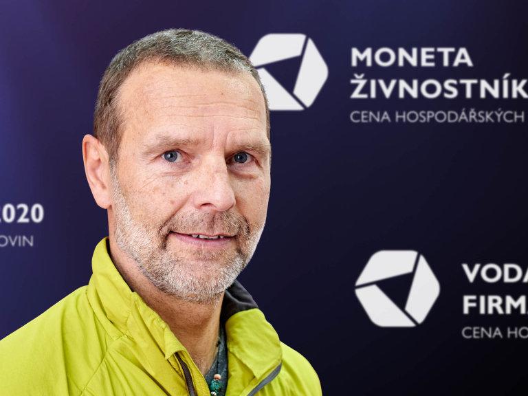 Roman Kamler, zakladatel společnosti Tilak, Vodafone Firma roku 2020 Olomouckého kraje