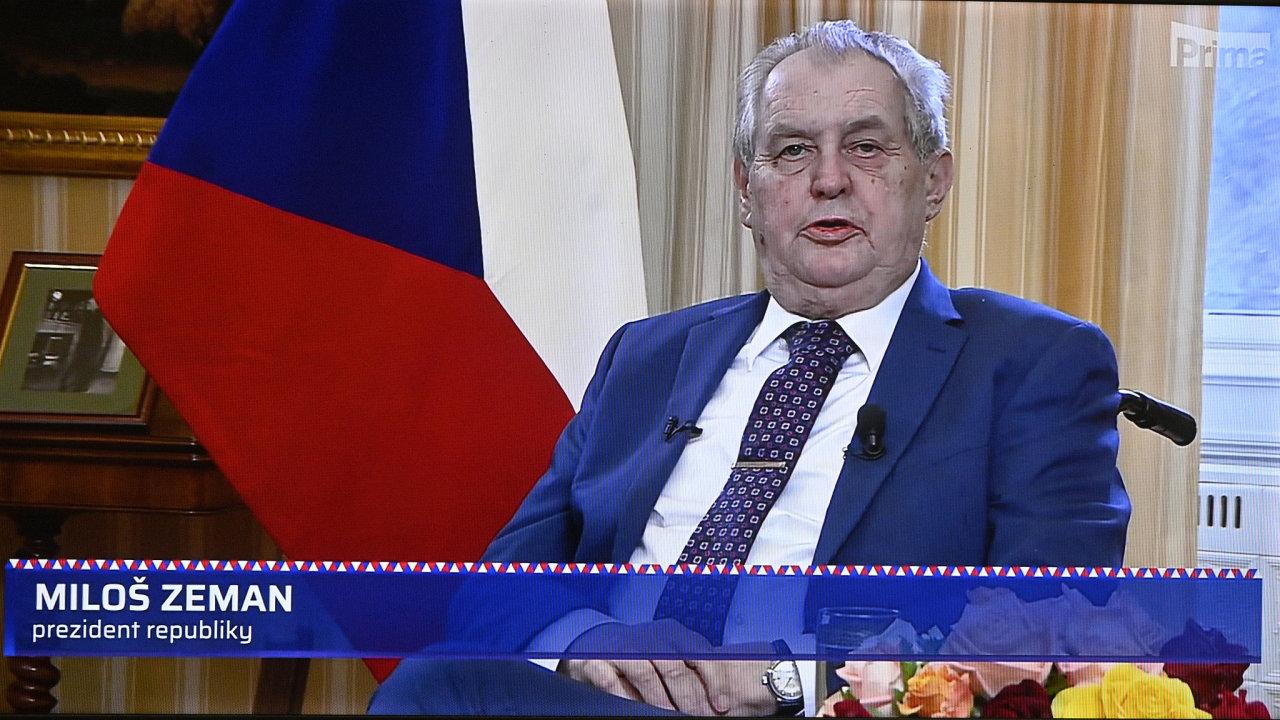 Prezident Miloš Zeman v neděli přednesl mimořádný projev k výbuchu muničních skladů ve Vrběticích.