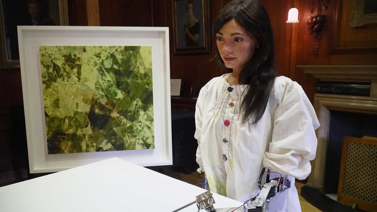 Jmenuji se Ai‑da- Robotická umělkyně má vesvém kódu naprogramovaný například styl abstraktního ruského malíře Vasilije Kandinského.