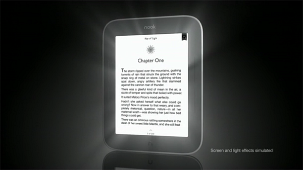 E-ink �te�ka Nook Simple Touch with LightGlow