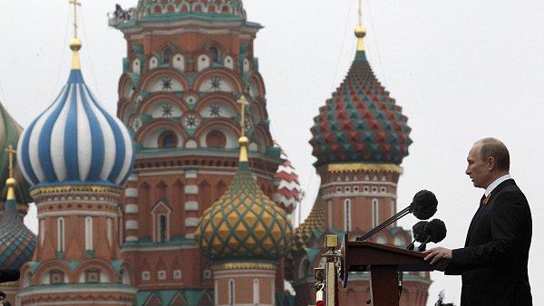 Vladimir Putin na Rudém náměstí