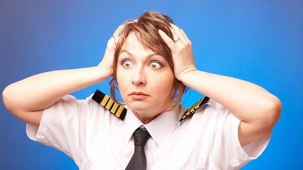 Létání někdy provázejí i problémy.