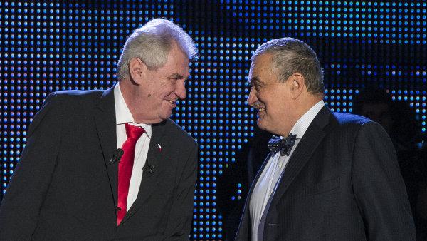 Miloš Zeman a Karel Schwarzenberg před prezidentskou volbou