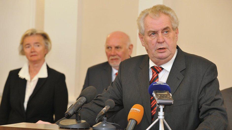 Miloš Zeman navštívil Ústavní soud v Brně