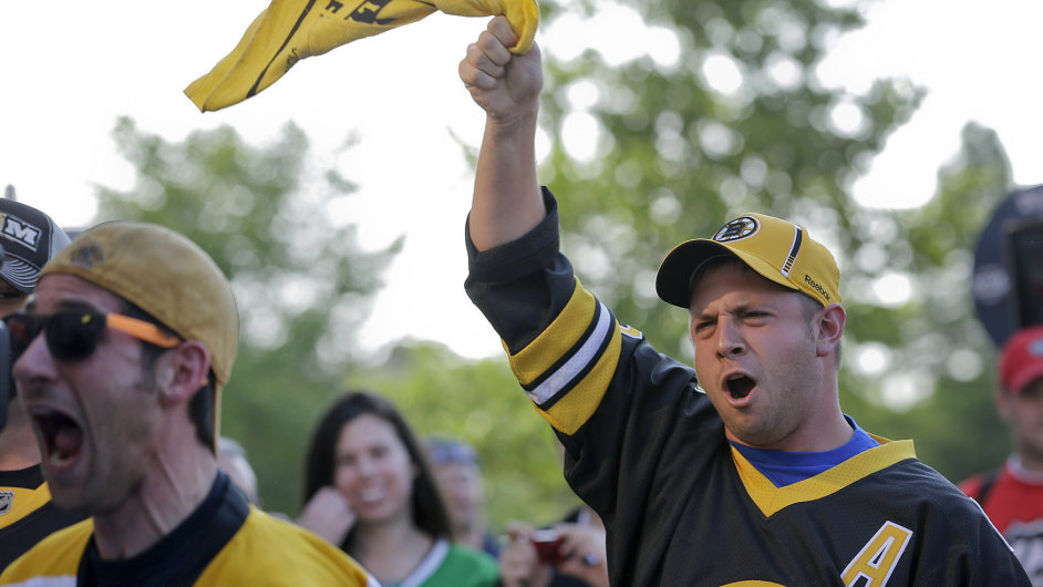 Fanoušci hokejistů Bostonu Bruins