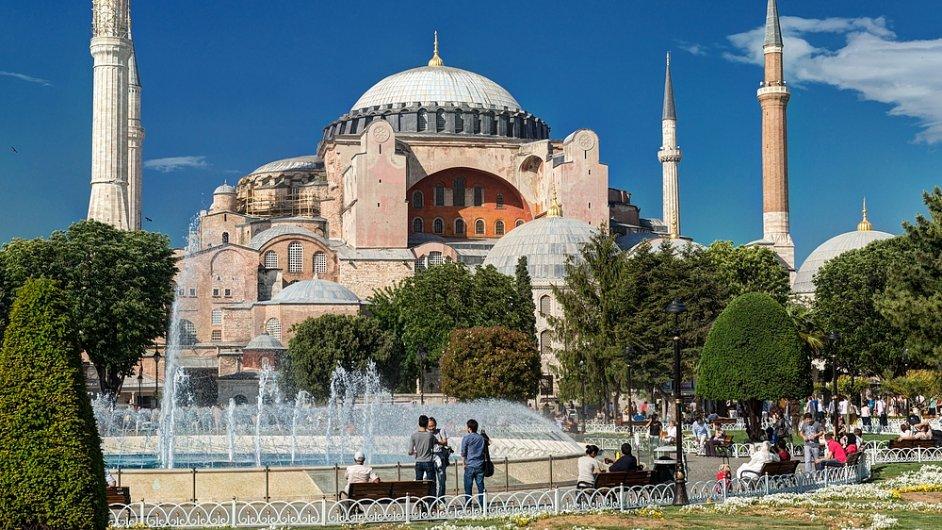 Chrám Hagia Sophia v Istanbulu