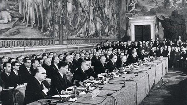 Podpis Římské smlouvy v roce 1957