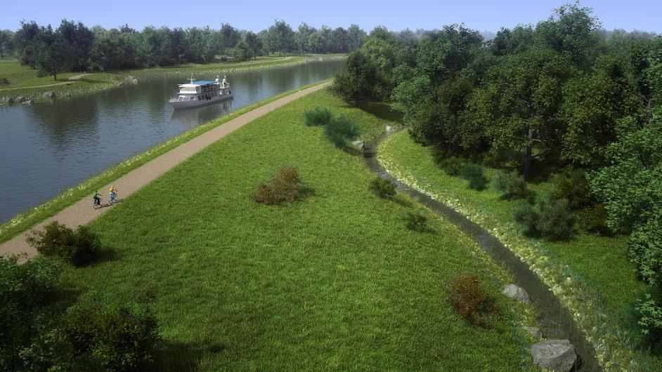 Zvažovaná podoba kanálu Dunaj-Odra-Labe