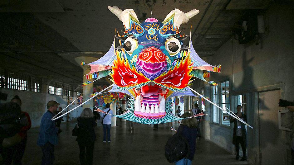 Snímek z výstavy Aj Wej-weje na Alcatrazu