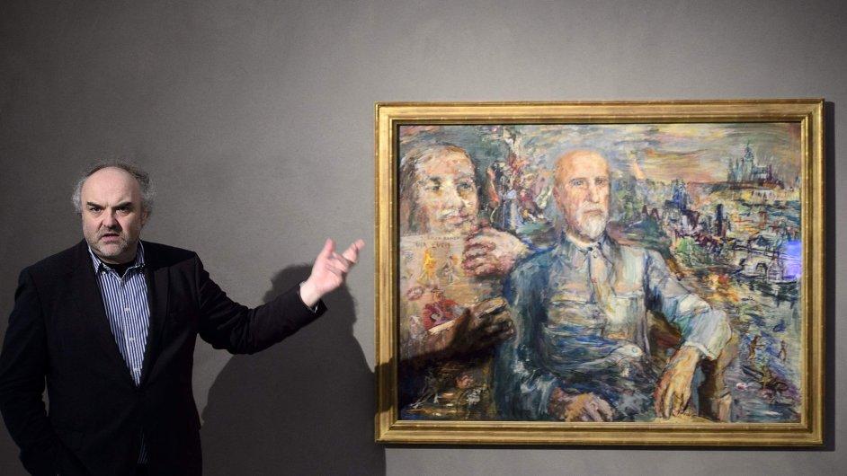 Ředitel Národní galerie v Praze Jiří Fajt hovoří o Kokoschkově portrétu Tomáše Garrigua Massaryka.