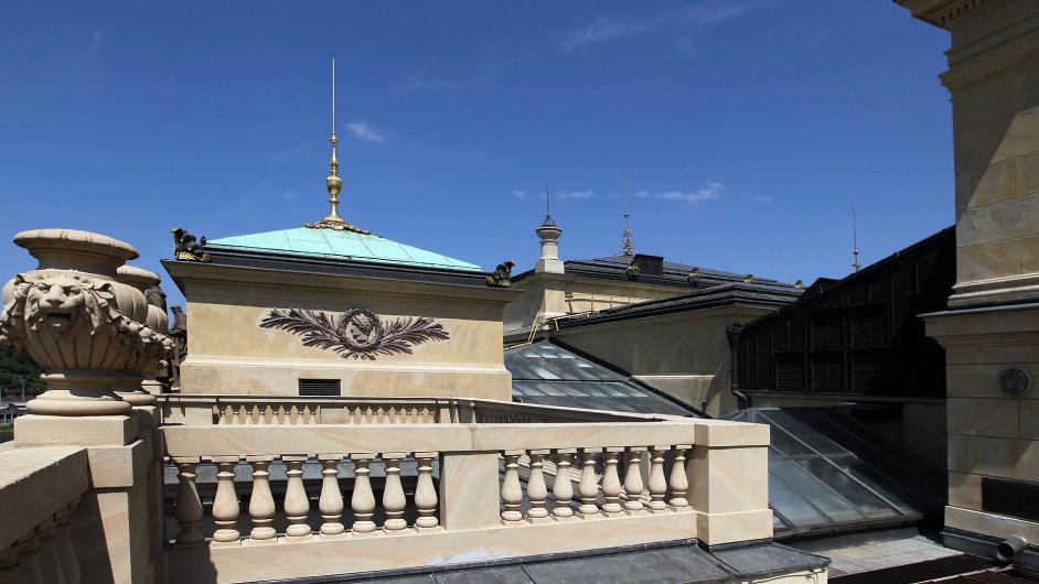 Pohled na střechu Rudolfina.