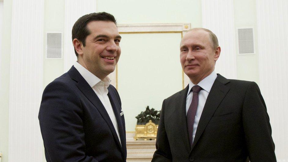 Alexis Tsipras a Vladimir Putin